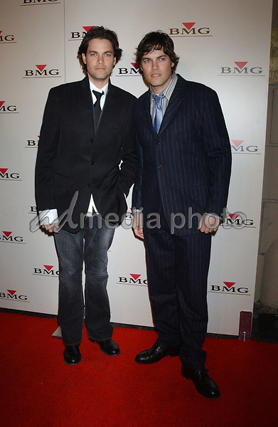 Feb. 8, 2004; Hollywood, CA, USA; Singers EVAN LOWENSTEIN and JAROD LOWENSTEIN of 'Evan and Jarod' during the BMG 46th Annual Grammy Awards Post-Grammy Gala Celebration held at The Avalon. Mandatory Credit: Photo by Laura Farr/AdMedia. (©) Copyright 2003 by Laura Farr