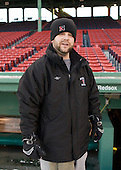 Matt Nareski (NU - Equipment Manager) - The Northeastern University Huskies practice on the ice at Fenway Park on Thursday, January 7, 2010, in Boston, Massachusetts.