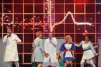 LONDON, ENGLAND - JULY 10: Lee Latchford-Evans, Claire Richards, Ian &quot;H&quot; Watkins, Faye Tozer and Lisa Scott-Lee of 'Steps' performing at Kew the Music, Kew Gardens on July 10, 2018 in London, England.<br /> CAP/MAR<br /> &copy;MAR/Capital Pictures