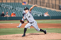 Glendale Desert Dogs starting pitcher Tanner Banks (38), of the Chicago White Sox organization, delivers a pitch during an Arizona Fall League game against the Salt River Rafters at Salt River Fields at Talking Stick on October 31, 2018 in Scottsdale, Arizona. Glendale defeated Salt River 12-6 in extra innings. (Zachary Lucy/Four Seam Images)