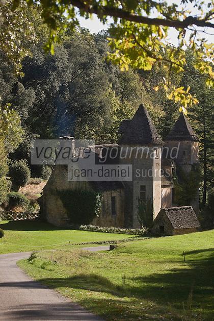 Europe/France/Aquitaine/24/Dordogne/Périgord Noir/Saint-Crépin-et-Carlucet : Château de Lacypierre, gentilhommière de la fin du 16 ème siècle