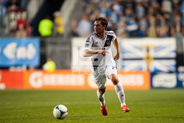 Todd Dunivant (2) of the Los Angeles Galaxy. The Los Angeles Galaxy defeated the Philadelphia Union 4-1 during a Major League Soccer (MLS) match at PPL Park in Chester, PA, on May 15, 2013.