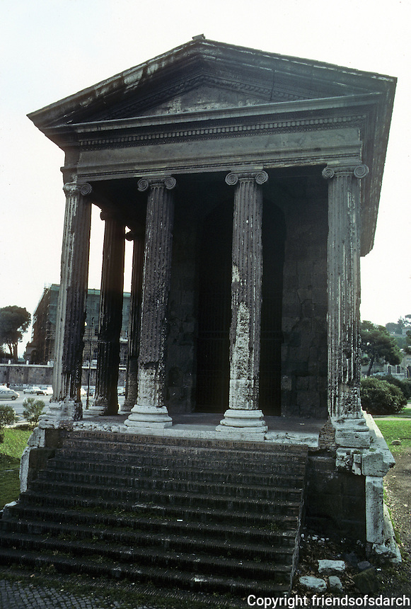 "Italy: Rome--Temple of Fortuna Virilius, 100 B.C. in ""Greek-italian style"". Ionic order. Photo '82."
