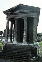 "Italy: Rome--Temple of Fortuna Virilius, 100 B.C. in ""Greek-italian style"". Ionic order. Photo '82."