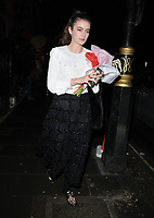 Millie Brady out and about, spotted walking along Berkeley Square, London, England, UK, on Tuesday 05th February 2019.<br /> CAP/CAN<br /> ©CAN/Capital Pictures