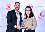 Highlights from the awards luncheon at the CPC Paralympic Summit 2018 at the Palliser Hotel in Calgary, Alberta on November 15, 2018.  Greg Westlake accepts the best team award on behalf of para ice hockey.