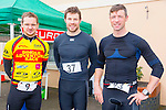 Rob Williams, Kieran Slattery and A O' Corrane enjoying the Puck Warriors Duathlon 5km run 15km cycle 5km run started at JP O Sullivan Park, Killorglin on Saturday