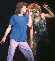 Mick Jagger Tina Turner 1986<br /> Photo By John Barrett/PHOTOlink
