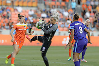 Houston, TX - Friday May 20, 2016: Ashlyn Harris (1) of the Orlando Pride. The Orlando Pride defeated the Houston Dash 1-0 during a regular season National Women's Soccer League (NWSL) match at BBVA Compass Stadium.