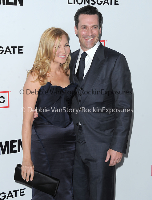 Jennifer Westfeldt and Jon Hamm at The AMC Premiere of The 6th Season Of Mad Men held at The DGA in West Hollywood, California on March 20,2013                                                                   Copyright 2013 Hollywood Press Agency