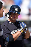 New York Yankees outfielder Brett Gardner (11) before a Spring Training game against the Pittsburgh Pirates on March 5, 2015 at McKechnie Field in Bradenton, Florida.  New York defeated Pittsburgh 2-1.  (Mike Janes/Four Seam Images)