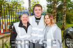 Michelle Reidy Gallagher, Thomas White and Dominika Kacprzak working behind the scene in the Town Park at the Féile na mBláth on Sunday.