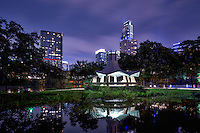 We captured this image a little later in the evening and I really like the reflection of the {Fannie Davis) Gazebo along with the Austin skyline in the background with all the iconic buildings.  This gazebo is along Lady Bird Lake or town lake, on the hike and bike trail in downtown Austin.