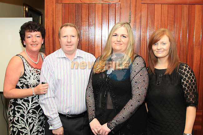 Marina O Connor, Nicolas McCabe, vonne Gregory and Sandra McCoy at the HSE fashion show in the Boyne Valley Hotel..Picture: Shane Maguire / www.newsfile.ie