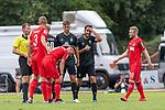 20.07.2019, Heinz Detmar Stadion, Lohne, Interwetten Cup 1. FC Köln vs SV Werder Bremen<br /> <br /> im Bild / picture shows <br /> <br /> Nuri Sahin (Werder Bremen #17) sieht die gelbe Karte <br /> Florian Kainz (Koeln #30)<br /> Lasse Sobiech ( Koeln #03)<br /> Birger Verstraete (Koeln #8)<br /> Foto © nordphoto / Kokenge