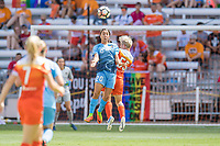 Houston, TX - Saturday May 13, Sky Blue FC forward Samantha Kerr (20), Houston Dash defender Janine Van Wyk (55) during a regular season National Women's Soccer League (NWSL) match between the Houston Dash and Sky Blue FC at BBVA Compass Stadium. Sky Blue won the game 3-1.