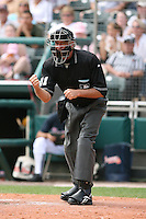 March 23rd 2008:  MLB Umpire Mike Reilly during a Spring Training game at Osceola County Stadium in Kissimmee, FL.  Photo by:  Mike Janes/Four Seam Images