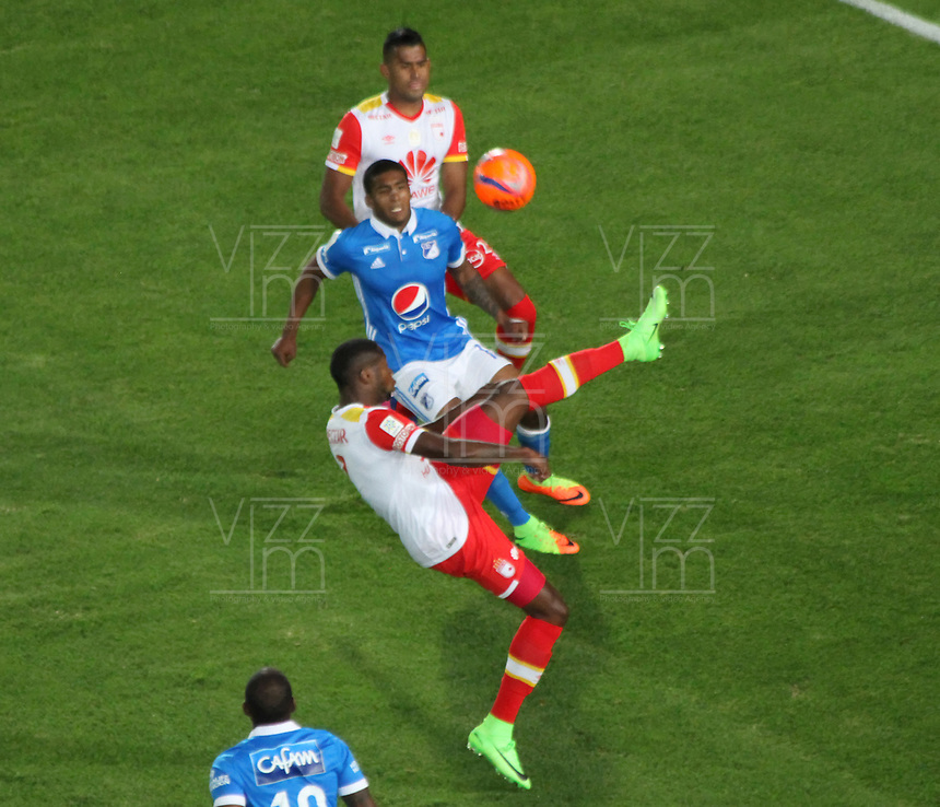 BOGOTA -COLOMBIA, 19-03-2017.Actions game between  Millonarios and  Santa Fe during match for the date 10 of the Aguila League I 2017 played at Nemesio Camacho El Campin stadium . Photo:VizzorImage / Felipe Caicedo  / Staff