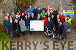 Minister Brendan Griffin TD turns the sod on the Fenit to Tralee Greenway in Fenit on Friday morning.