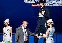Medal Ceremony with Klaus Di Biasi and Fina Delegates<br /> Diving - Men's 10m Platform final<br /> Day 10 02/08/2015<br /> XVI FINA World Championships Aquatics Swimming<br /> Kazan Tatarstan RUS July 24 - Aug. 9 2015 <br /> Photo Giorgio Perottino/Deepbluemedia/Insidefoto