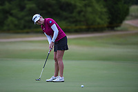 Stephanie Meadow (NIR) watches her long birdie attempt on 12 during the round 2 of the Volunteers of America Texas Classic, the Old American Golf Club, The Colony, Texas, USA. 10/4/2019.<br /> Picture: Golffile | Ken Murray<br /> <br /> <br /> All photo usage must carry mandatory copyright credit (© Golffile | Ken Murray)