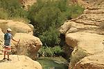Israel, Nahal Arugot in the Judean desert