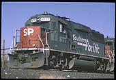 3/4 left front view of SP GP60 #977 tailed by SP SD45T-2 #9314.  &quot;9777 GP60&quot;.<br /> D&amp;RGW/Southern Pacific  Kobe Siding, CO  Taken by Berkstresser, George - 1/9/1995