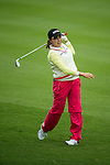 Yeun Jung Seo of South Korea plays a second shot at the 18th hole during Round 1 of the World Ladies Championship 2016 on 10 March 2016 at Mission Hills Olazabal Golf Course in Dongguan, China. Photo by Victor Fraile / Power Sport Images