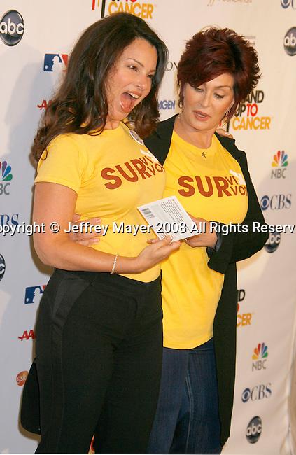HOLLYWOOD, CA. - September 05: Actress Fran Drescher and Sharon Osbourne arrive at Stand Up For Cancer at The Kodak Theatre on September 5, 2008 in Hollywood, California.