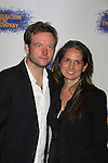 """One Life To Live Christine Jones """"Pamela Stuart"""", General Hospital (Tracy Quartermains Williams"""", Ryan's Hope and Another World & hubby Dallas Roberts at the Opening Night party of Signature Theatre Company's """"The Illusion"""" on June 5, 2001 at the West Bank Cafe with the play at the Peter Norton Space, New York City, New York.  (Photo by Sue Coflin/Max Photos)"""