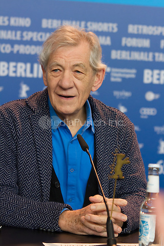 Ian McKellen attending the Mr. Holmes press conference during Berlinale International Film Festival, Berlin, Germany, 08.02.2015. <br /> Photo by Christopher Tamcke/insight media /MediaPunch ***FOR USA ONLY***