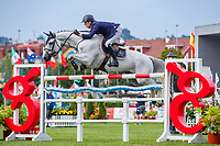CAN-Kyle Timm rides Vagabon des Forets during the Trofeo Oquendo - 1.50m. 2019 ESP-CSIO5* Gijon. Esturias, Spain. Thursday 29 August. Copyright Photo: Libby Law Photography