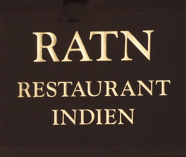 Sign, RATN Restaurant, Paris, France, Europe