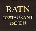 Sign, RATN Restaurant, Paris, France, Europe