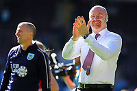 Burnley manager Sean Dyche applauds the fans during a lap of the pitch after the match<br /> <br /> Photographer Alex Dodd/CameraSport<br /> <br /> The Premier League - Burnley v Arsenal - Sunday 12th May 2019 - Turf Moor - Burnley<br /> <br /> World Copyright &copy; 2019 CameraSport. All rights reserved. 43 Linden Ave. Countesthorpe. Leicester. England. LE8 5PG - Tel: +44 (0) 116 277 4147 - admin@camerasport.com - www.camerasport.com
