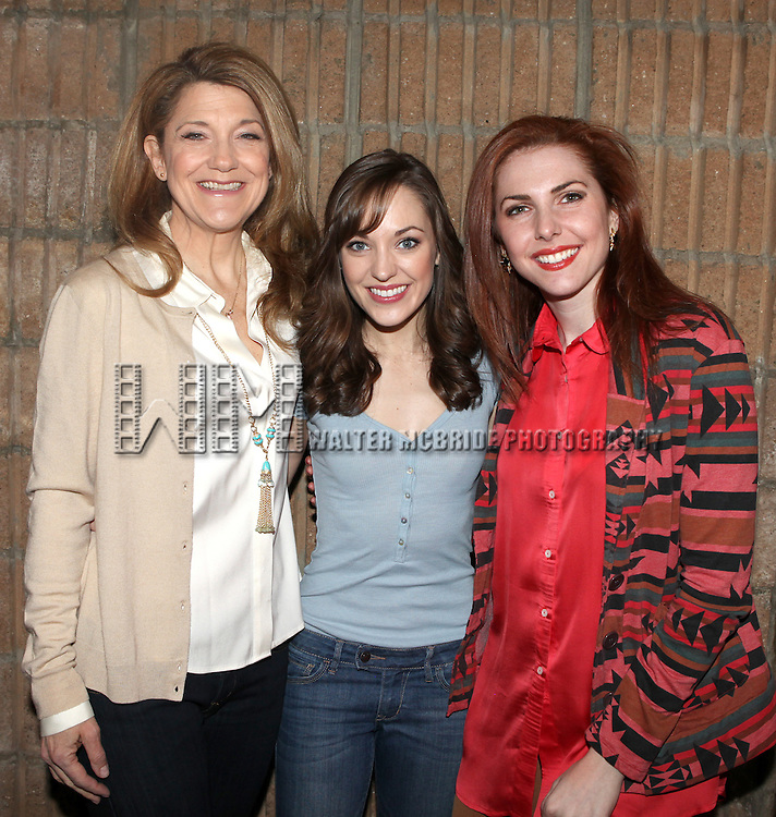 """Victoria Clark, Laura Osnes & Marla Mindelle arriving for the Original Broadway Cast Recording of Broadway's """"Rodgers & Hammerstein's Cinderella? at MSR Studios in New York City on 3/18/2013"""