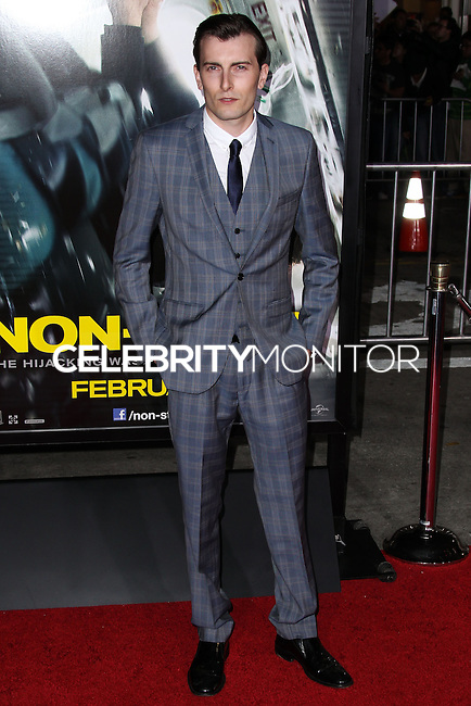 "WESTWOOD, CA, USA - FEBRUARY 24: Cameron Moir at the World Premiere Of Universal Pictures And Studiocanal's ""Non-Stop"" held at Regency Village Theatre on February 24, 2014 in Westwood, Los Angeles, California, United States. (Photo by Xavier Collin/Celebrity Monitor)"