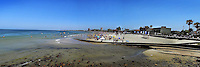 Beaches and scenic view of the town of Piriapolis, in the Atlantic coast of Uruguay, one the preferred destinations of thousands of Argentinians that seek a quiet and peaceful beach where to spend the summer