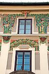 Decorative borders on a building facade