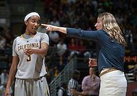 Berkeley, CA - December 21, 2014: California Golden Bears' 57-70 loss to Louisville Cardinal during NCAA Women's Basketball game at Haas Pavilion.