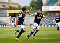 14th July 2020; The Den, Bermondsey, London, England; English Championship Football, Millwall Football Club versus Blackburn Rovers; Mason Bennett of Millwall celebrates with Shane Ferguson of Millwall after scoring his sides 1st goal in the 24th minute to make it 1-0