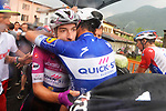 Elia Viviani (ITA) Quick-Step Floors wins Stage 17 his 4th stage win of the 2018 Giro d'Italia, The Franciacorta Stage running 155km from Riva del Garda to Iseo, Italy. 23rd May 2018.<br /> Picture: LaPresse/Gian Mattia D'Alberto | Cyclefile<br /> <br /> <br /> All photos usage must carry mandatory copyright credit (&copy; Cyclefile | LaPresse/Gian Mattia D'Alberto)