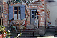 Europe/France/Midi-Pyrénées/81/Tarn/Albi: Rue Costeviel - Mur peint en hommage au  vin de Gaillac