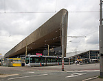 Construction of new Rotterdam Centraal railway station nearing completion Rotterdam, Netherlands August 2013