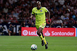 Getafe CF's Allan-Romeo Nyom during La Liga match between Atletico de Madrid and Getafe CF at Wanda Metropolitano Stadium in Madrid, Spain. August 18, 2019. (ALTERPHOTOS/A. Perez Meca)