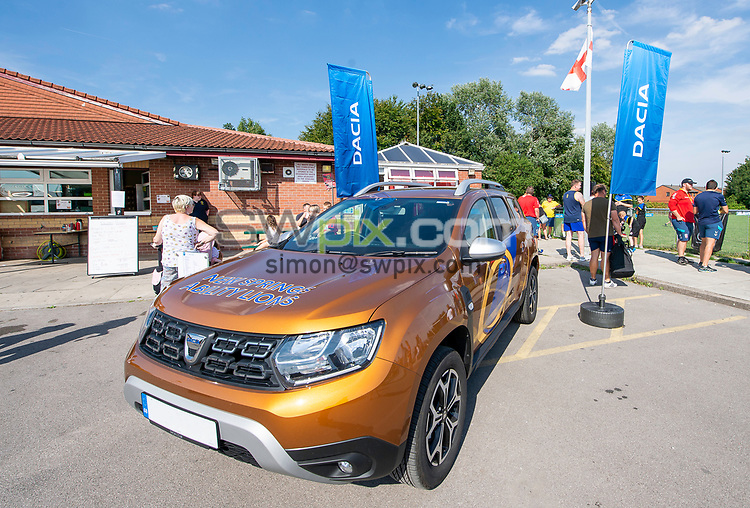 Picture by Allan McKenzie/SWpix.com - 25/07/2018 - Rugby League - Dacia Flair Play - New Spring Lions & Ince Rose Bridge RLFC, Ince-in-Makerfield, England - Dacia, Duster, flags, branding.