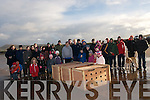 Dingle Wildlife and Seal Sanctuary staff and friends about to release three seals (still inside their boxes) at Be?al Ban, Ballyferriter, on Saturday afternoon.