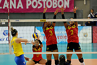 CALI -COLOMBIA-19-08-2017. Colombia (COL) y Brasil (BRA) disputan las final del Campeonato Sudamericano de Voleibol Femenino realizado en el Coliseo Evangelista Mora en la ciudad de Cali, Colombia. / Colombia (COL) and Brazil (BRA) play the final of the Women's South American Volleyball Championship, Cali 2017 that be held at Evangelista Mora Coliseum in Cali,  Colombia.  Photo: VizzorImage / Nelson Rios / Cont