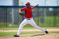 GCL Nationals pitcher Jairon Peguero (92) during a Gulf Coast League game against the GCL Astros on August 9, 2019 at FITTEAM Ballpark of the Palm Beaches training complex in Palm Beach, Florida.  GCL Nationals defeated the GCL Astros 8-2.  (Mike Janes/Four Seam Images)