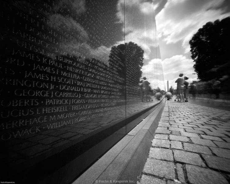 The Vietnam Veterans Memorial in Washington D.C.